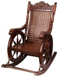 Wooden ANTIQUE FINISH SOLID TEAK WOOD ROCKING CHAIR, For Home, Standard