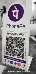 PhonePe Airtel Amazon QR Code Table Top Stand