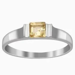 925 Sterling Silver 0.60 Cts Citrine Gemstone Solitaire Stackable Ring