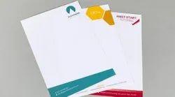 Paper Letterhead Offset Single Colour & Multicolor Printing, Size: 210 X 297