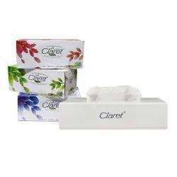 Claret Super 4 Pack 3 In 1 Facial Tissue Box With Big Facial Tissue Dispenser