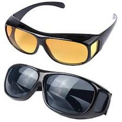 Round Black Goggles