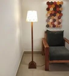 Brown Wooden Babel Floor Lamp