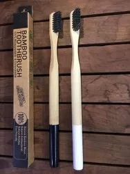 Bamboo toothbrush with Round Bottom Handle.