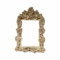 Brown Sagwan Wood Wooden Designer Mirror Frame