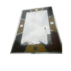 Designer Mirror Glass, For Home, Size: 1.5x2 Feet