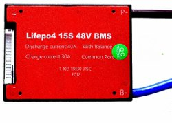 LifePo4 15S 48V 40A Waterproof BMS