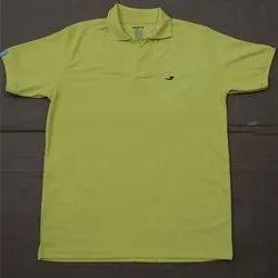 Yellow Male Cotton T Shirt, Size: XL