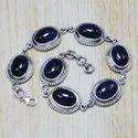 925 Sterling Silver Designer Jewelry Blue Sun Stone Gemstone Bracelet SJWBR-76