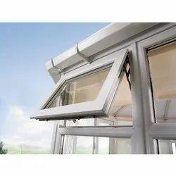 Fenesta White (Frame) UPVC Top Hung Window, Glass Thickness: 4mm