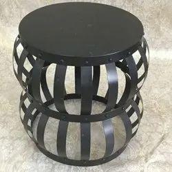 mv singh Powder Coated Wrought Iron Table, For Restaurant, Size: Custom
