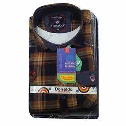 Full Sleeves Check Donaldo Kids Boys Regular Wear Shirts
