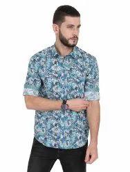 Guniaa 100% Cotton Mens Casual Printed Shirt
