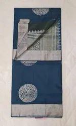 Peacock Color Silk Saree