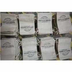 5x7 Inch Printed Jute Potli Bag