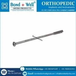 4.0 mm Orthopedic Cannulated Screw Short Thread