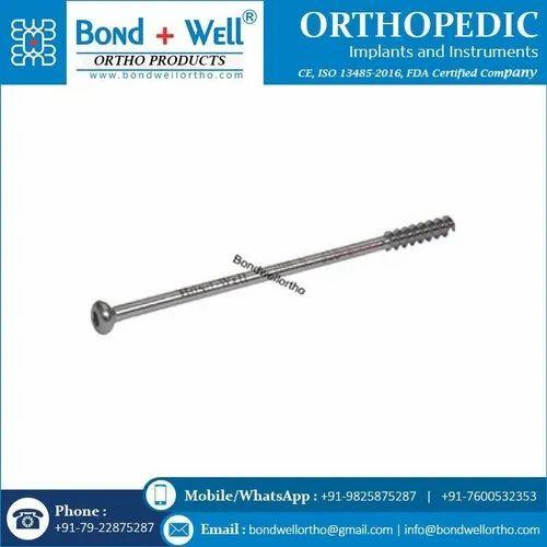 4.0 mm Orthopedic Cannulated Screw Short Thread