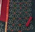 Satin Batik Dark Multi Bandhej Dresses