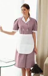 Purple Housekeeping uniform, For Hotels, Size: Medium