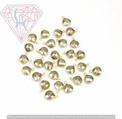 Natural Pyrite Gemstone Connector Connectors