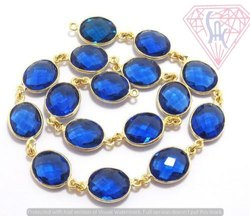 Tanzanite Gemstone Bezel Chain