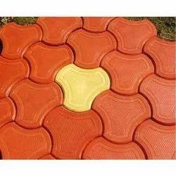 Red Rectangular Concrete Paver Block, For Flooring