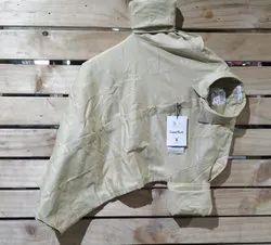 Plain Cream Cotton Mens Wear Stylish Partywear Shirt, Size: M-xxl