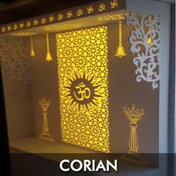 Corian Jali Mandir Laser Cutting Service