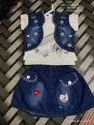 Latest Sleeve Less Dangri Set For Girls