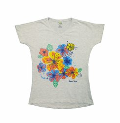 WHITE & SKY SIMPLE CASUAL LOOKS TOP DRESS FOR GIRLS
