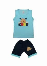 KINDER CHOICE SKY & YELLOW & GREEN NEW SIMPLE T-SHIRT KIDSWEAR FOR BABY
