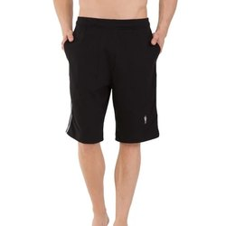 Cotton Plain Jockey Men Black Knit Sport Shorts