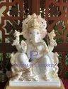 Makrana White Marble Ganesh Murti