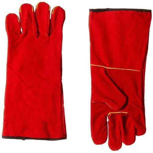 Leather(Buff/Split/Chrome) Protection Red Split Welding Gloves, Rs 80 /pair  | ID: 22645622973
