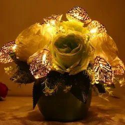 Golden Metal Leaf String LED Decorative Lights, Party Decoration Items