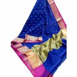 Party Wear Zari Ladies Kora Silk Saree, 6.3 M (With Blouse Piece)