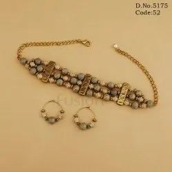 Beaded Designer Choker Necklace Set