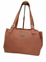 Pu Leather Brown HAND BAG NO-111123, Size: 14