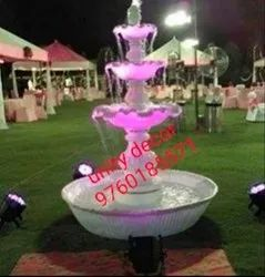 Fountain In Fiber For Wedding Decoration, Fountain For Party Plot Display, Props