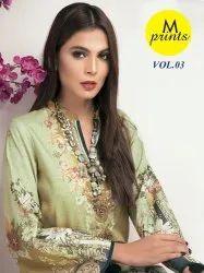 M Prints Vol-3 Pakistani Style Cotton Printed Suits Catalog