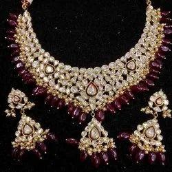 Rajasthani real gold jadau jewellery