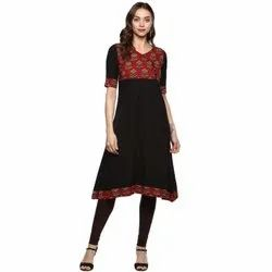 Cotton Slub Anarkali Kurta