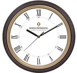 Brown Analog Round Wall Clock, For Home