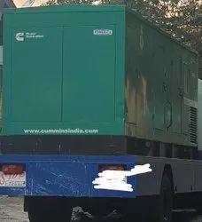 Three Phase 500 kVA Used Cummins Pre Owned Truck Mounted Generator Set
