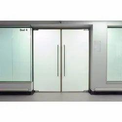 Plain White Glass Door
