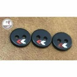 Black Round Plastic Button, Packaging Type: Packet