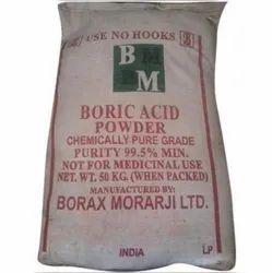 99.5 % Min BM Boric Acid Powder, Packaging Size: 50kg