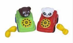 Pull String Telephone Car