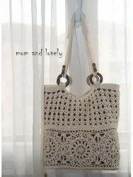 Washable Grey Crochet bag