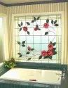 Multicolor Floral Bathroom Window Glass, Thickness: 20 Mm- 25 Mm